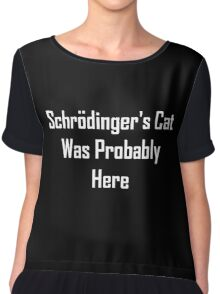 Schrodinger's Cat Was Probably Here Chiffon Top