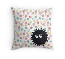 Annoyed Soot Sprite Throw Pillow