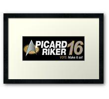 Picard / Riker 2016 Framed Print
