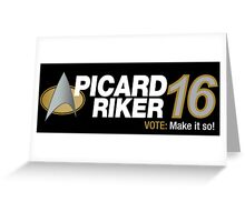 Picard / Riker 2016 Greeting Card