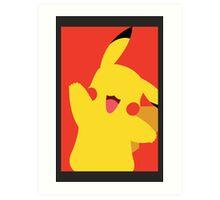 Minimalist Pikachu Art Print