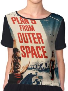 Plan 9 From Outer Space Retro Movie Pop Culture Art Chiffon Top