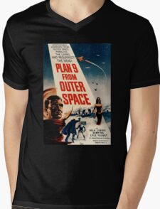 Plan 9 From Outer Space Retro Movie Pop Culture Art Mens V-Neck T-Shirt