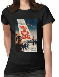 Plan 9 From Outer Space Retro Movie Pop Culture Art Womens Fitted T-Shirt
