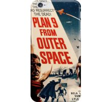 Plan 9 From Outer Space Retro Movie Pop Culture Art iPhone Case/Skin