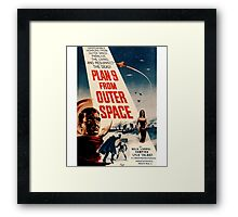 Plan 9 From Outer Space Retro Movie Pop Culture Art Framed Print