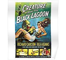 Creature from the Black Lagoon Retro Movie Pop Culture Art Poster