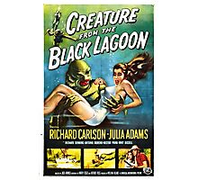 Creature from the Black Lagoon Retro Movie Pop Culture Art Photographic Print