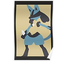 Minimalist Lucario Poster