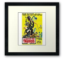 The Day of the Triffids Retro Movie Pop Culture Art Framed Print