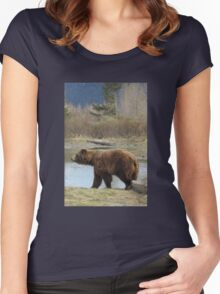 Gettin' Grizzly in Alaska Women's Fitted Scoop T-Shirt