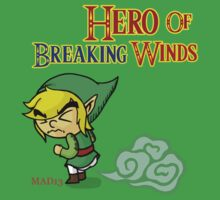Hero of Breaking Winds Kids Tee