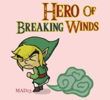 Hero of Breaking Winds Kids Tee