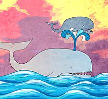 How Whales Have Fun by SRowe Art