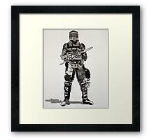 Riot Cop Framed Print
