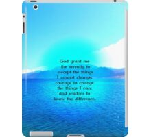 Serenity Prayer With Blue Ocean and Amazing Sky iPad Case/Skin