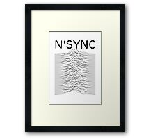 N'SYNC - Unknown Pleasures (white) Framed Print