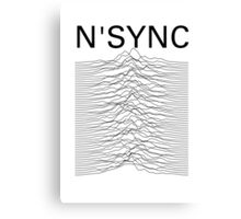 N'SYNC - Unknown Pleasures (white) Canvas Print