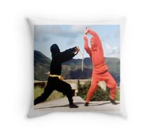 Only a ninja can kill a ninja Throw Pillow