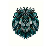 Lion Deep Totem Art Print