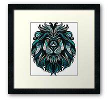 Lion Deep Totem Framed Print