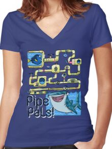 Pipe Pals! (finding dory) Women's Fitted V-Neck T-Shirt