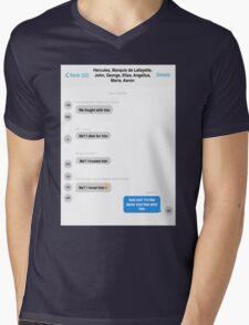 Hamilton Group Text Mens V-Neck T-Shirt