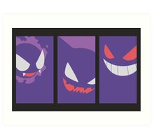 Minimalist Set - Ghastly / Haunter / Gengar Art Print