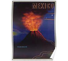 Mexico Volcán de Parícutin Vintage Travel Poster Poster