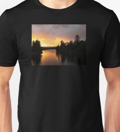 Sunset Over Esquimalt Gorge Park Unisex T-Shirt