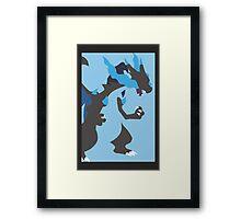 Minimalist Mega Charizard X Framed Print