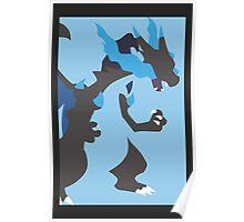 Minimalist Mega Charizard X Poster