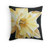 Daffodil Addict Throw Pillow