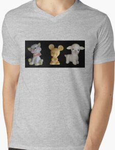 Kitty Mousie Lambie Mens V-Neck T-Shirt