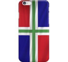 Groningen Province Flag iPhone Case/Skin