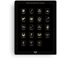 Zelda Through the Ages Canvas Print