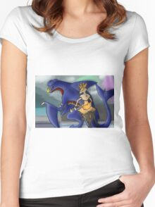 Pokemon Garchomp and Braixen Women's Fitted Scoop T-Shirt