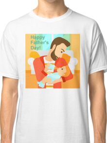 Father's Day - feeding baby  Classic T-Shirt