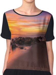 Sunset at Casperson Beach Chiffon Top