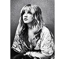 Stevie Nicks Classic White Witch Portrait Photographic Print