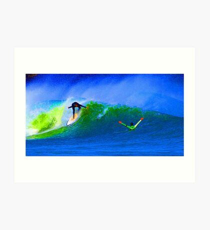 80's Surf Style - The Drop Art Print