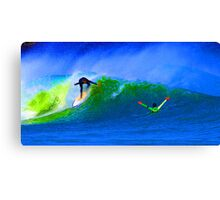 80's Surf Style - The Drop Canvas Print