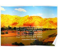 Gandhi Wisdom Quotation About Destiny  Poster