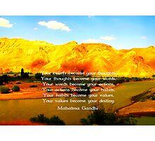 Gandhi Wisdom Quotation About Destiny  Photographic Print