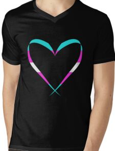 Trans Heart Mens V-Neck T-Shirt