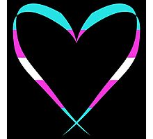 Trans Heart Photographic Print