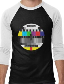 TV No Signal Men's Baseball ¾ T-Shirt