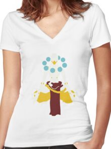 Minimalist Zenyatta Women's Fitted V-Neck T-Shirt