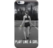 Play like a girl iPhone Case/Skin