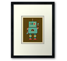 Fun Retro Robot Art Framed Print